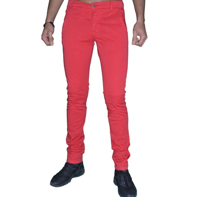Biaggio Solde Tarel Jeans Homme Pantalon Rouge Chino En sQdBtxChr