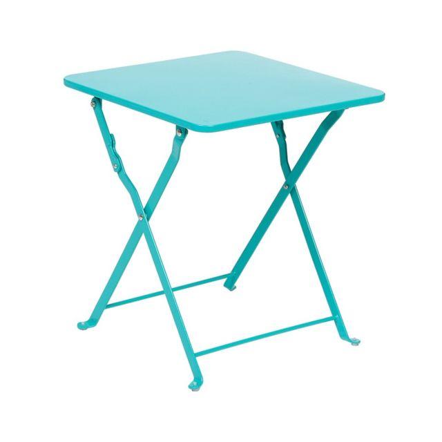 Hesperide Table D Appoint Carree Nindiri Hesperide Bleu Lagon