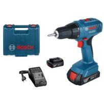 Bosch - Perceuse visseuse GSR 1800-Li - 2 batteries 18V 1.5Ah en coffret - 06019A8305
