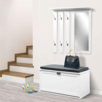 Meuble en bois blanc - catalogue 2019 - [RueDuCommerce - Carrefour]