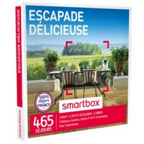 Smartbox - Escapade délicieuse - À choisir parmi 465 séjours en France : châteaux, manoirs, domaines de caractère, hôtels 3 et 4 - Coffret Cadeau