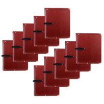 Classic Cantabile - B02BR Cahier de Partitions Standard Brun 10x Ensemble