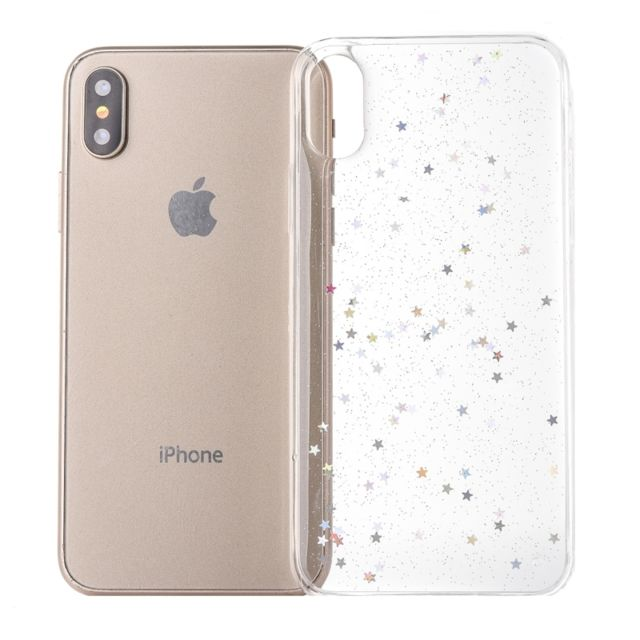 coque iphone xs paillette or