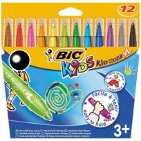 Bic Kids - feutre kid couleur xl pointe large - lot de 12 pochettes de 12+1