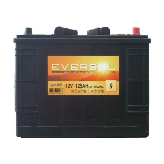 sellande batterie a decharge lente 12v 125ah eversol pas cher achat vente batteries. Black Bedroom Furniture Sets. Home Design Ideas