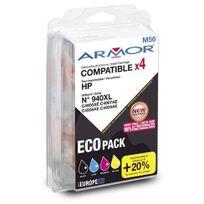 Pack cartouches Armor Compatibles Hp 940XL 4 couleurs pour imprimante jet d'encre