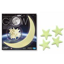 4M - Stickers Étoiles et Lune Phosphorescentes