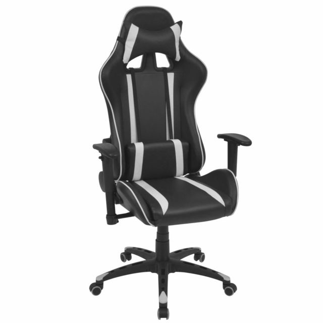 Distingué Meubles de bureau edition Oslo Chaise de bureau inclinable Cuir artificiel Blanc
