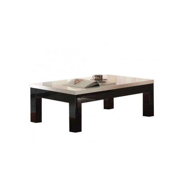 Decodesign Table Basse Roma Carre Blanc Noir Pas Cher Achat