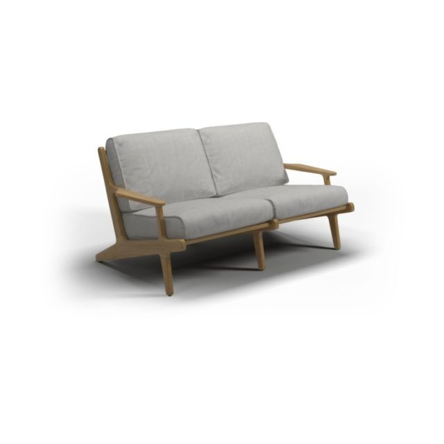 Gloster Sofa Bay 2 Seater - gris clair