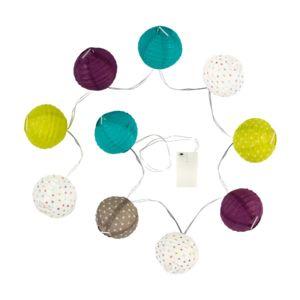 atmosphera guirlande lumineuse 10 boules led multicolore. Black Bedroom Furniture Sets. Home Design Ideas