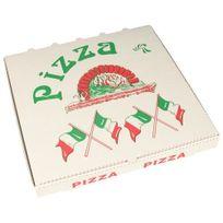 """Papstar - Boîtes à Pizza en cellulose """"pure"""" rectangulaire 33 cm x 33 cm x 3 cm - 15197"""