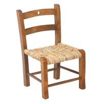 AUBRY GASPARD - Chaise enfant en hêtre laqué blanc cassé