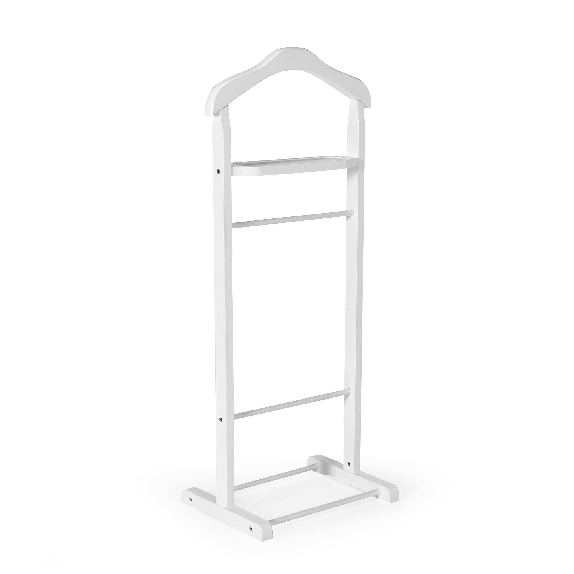 alin a winston valet porte v tement blanc en bois pas cher achat vente portant. Black Bedroom Furniture Sets. Home Design Ideas