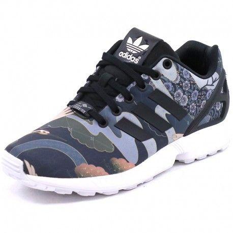 ADIDAS ORIGINALS - Chaussures ZX Flux Noir Femme Adidas