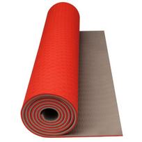 Avento - Tapis de yoga/fitness orange fluo/beige