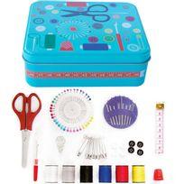 Touslescadeaux - Set de Couture - Kit de Couture 91 pièces avec boite métal - Boite Turquoise
