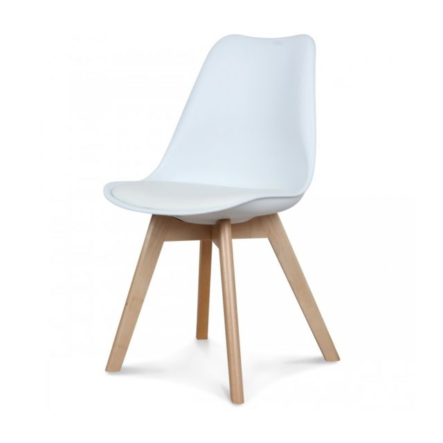 Chaise design scandinave blanche Scandy