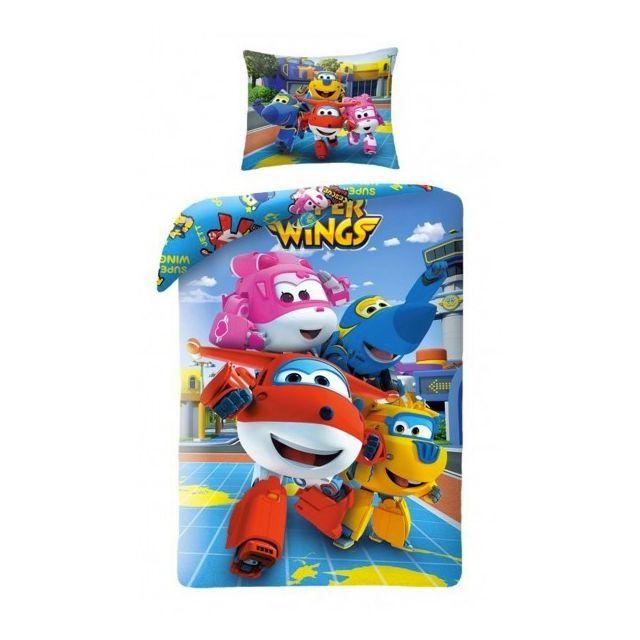 Super Wings - Friends - Parure de Lit Enfant - Housse de Couette Coton -  pas cher Achat   Vente Linge de lit enfant - RueDuCommerce b3cc0c780029