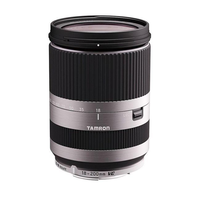 Tamron Objectif 18-200 mm f/3,5-6,3 Di Iii Vc B011EMS Silver pour Eos M Garanti 5 ans