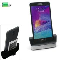 Wewoo - Dock de charge argent pour Samsung Galaxy Note 4 Bureau Usb Sync Cable Cradle Station Dock Chargeur + Otg