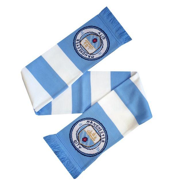 49e95e03dc757 Generic - Manchester City Fc - Écharpe de foot rayée officielle (Taille  unique) (
