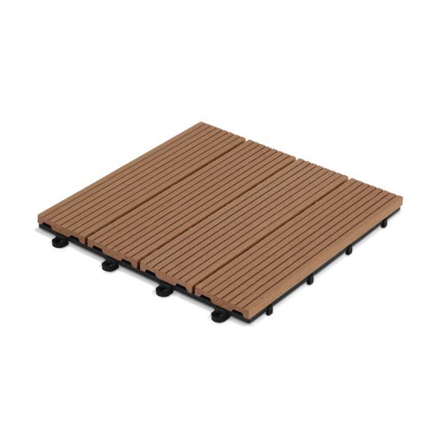 oviala dalle de terrasse clipsable en bois composite pas cher achat vente dalles en pierre. Black Bedroom Furniture Sets. Home Design Ideas