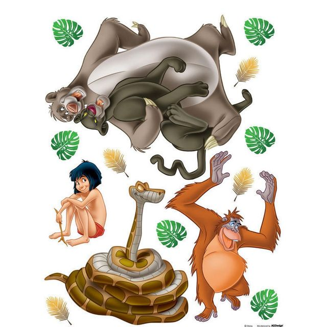 Stickers Geant Mowgli Le Livre De La Jungle Disney