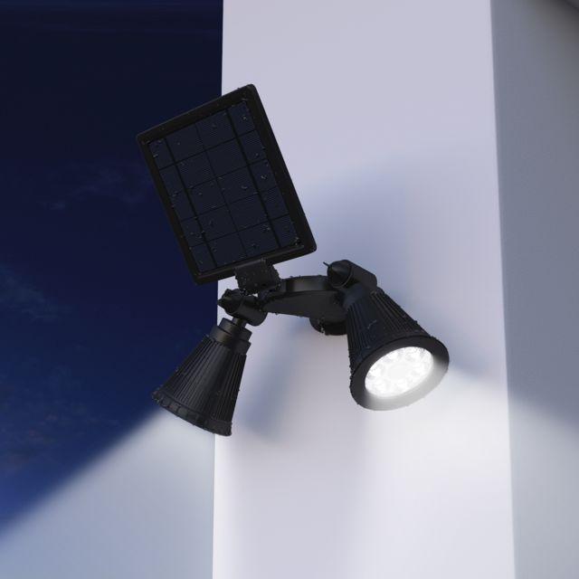 Double Sécurité Détecteur Solaire Spot Détecteur De Mouvement Extérieur DEL Projecteur