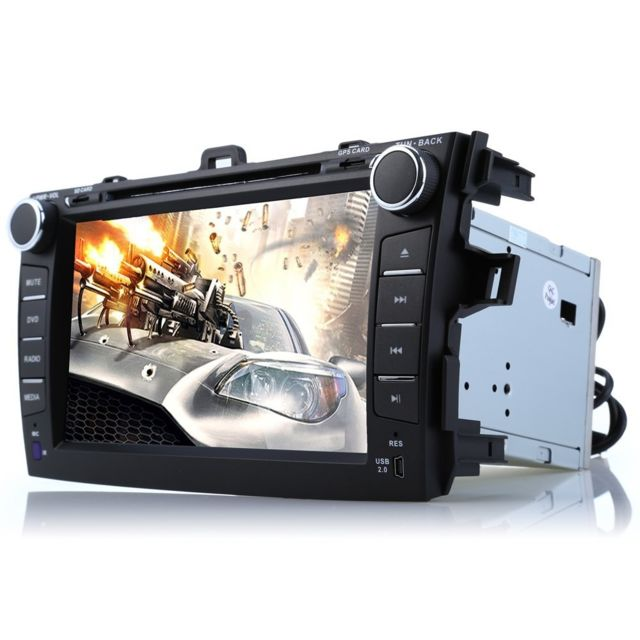 Auto-hightech Autoradio stéréo vidéo de voiture 8 pouces Android 4.4.4 Cortex A9, Cpu 1 Gb, Ram 0.98 Gb, Rom