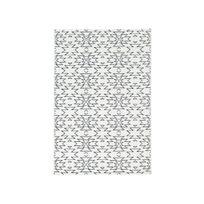 ae4c790860414 Dlm - Tapis effet laineux bleu et blanc ethnique motif navajo 135x190cm  Stell