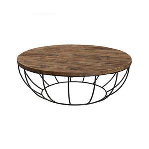 table basse coque noire 100x100 cm appoline teck fonc pas cher achat vente tables basses. Black Bedroom Furniture Sets. Home Design Ideas