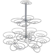 Promobo - Présentoir Support A Cupcakes En Inox 13 Emplacements