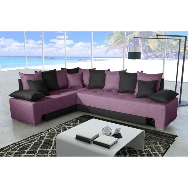 Rocambolesk Canapé Duo plus savana prune 70 / sawana 14 noir sofa divan