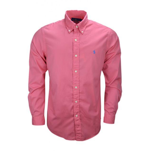 Ralph Lauren - Chemise basique rose pour homme - pas cher Achat   Vente Chemise  homme - RueDuCommerce ddaf8bb6d7e