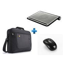CASE LOGIC - Pack sacoche PC portable 15,6'' + Support ventilé + souris sans fil