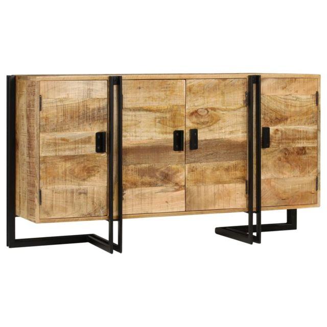 Stylé Armoires et meubles de rangement selection Bamako Buffet Bois de manguier massif 150 x 40 x 80 cm