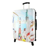 David Jones - Valise rigide New York 4 roues 70 cm