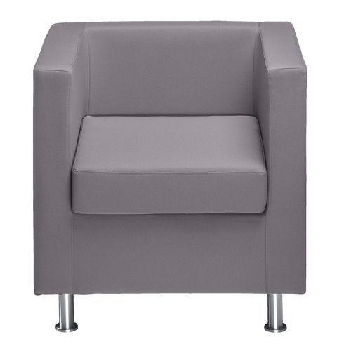 Fauteuils tissu classique Cube gris