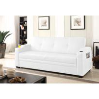 Design et Prix - Magnifique Canapé 3 personnes convertible lit avec coffre de rangement