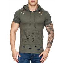Freeside - Tee shirt capuche 16107 Kaki