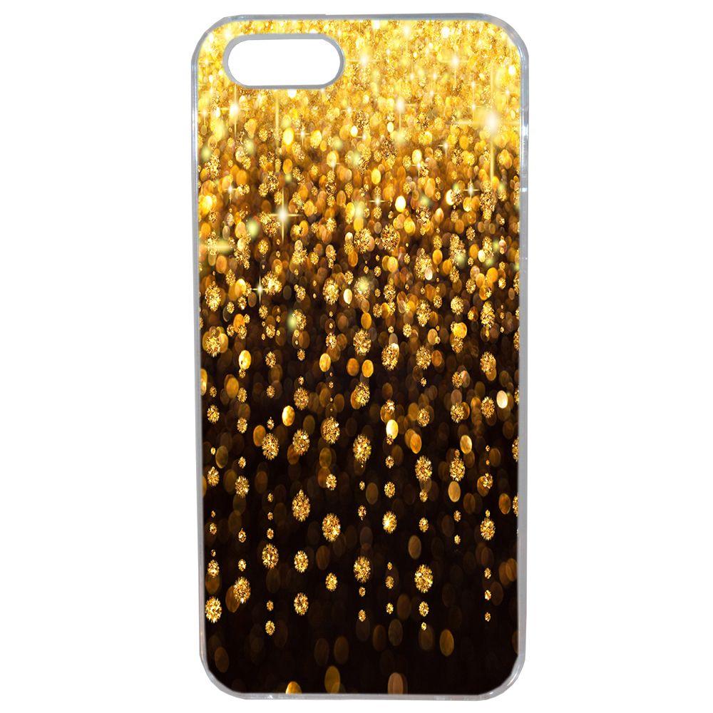 Lapinette - Coque Souple Pour Apple Iphone 5 - 5s Motif Or Pluie Dorée