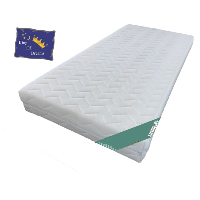 king of dreams matelas 120x190 pour sommier articul d houssable mousse poli lattex. Black Bedroom Furniture Sets. Home Design Ideas