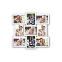 Zep - Cadre photo Multi Vues pour 9 Photos en Résine Blanc Santander