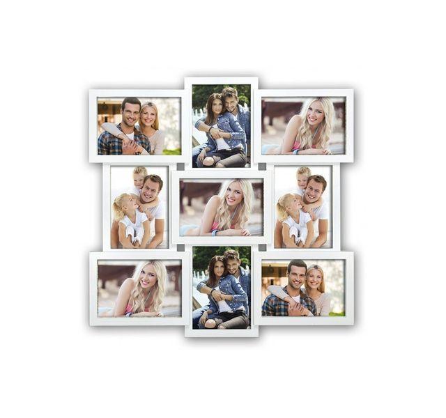 Zep Cadre photo Multi Vues pour 9 Photos en Résine Blanc Santander