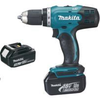 Makita - Perceuse visseuse 18 V Li-Ion 3 Ah Ø 13 mm + 2 batteries - DDF453SFE