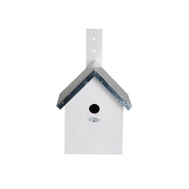 Esschert Design Nichoir en bois de pin Fsc blanc 19x18x31cm