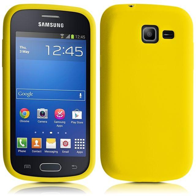Karylax housse etui coque en silicone jaune pour samsung - Coque samsung galaxy trend lite blanc ...