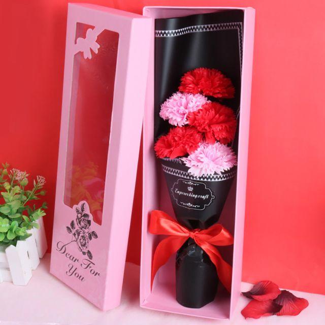 Saint Valentin savon parfumé Fleur Cadeau Fête Boîte Bouquet Rose cadeau