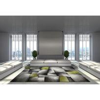 Allotapis - Tapis avec effet 3D vintage vert pour salon Crystal